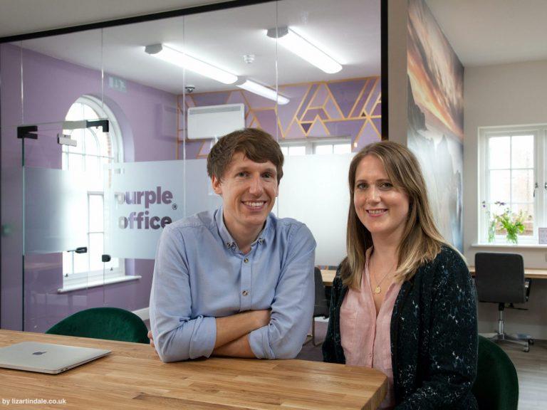 James and Vikki Hart, Co-Directors of Purple Office at Crown Square Poundbury.